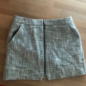 Topshop Petite Mini Skirt with Zipper